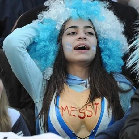 Argentina Flag And Messi