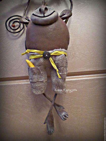 Куклы и игрушки ручной работы. Обезьян Элвис. Елена Кургузова. Ярмарка Мастеров. Обезьянки, обезьянка кукла, подарок…