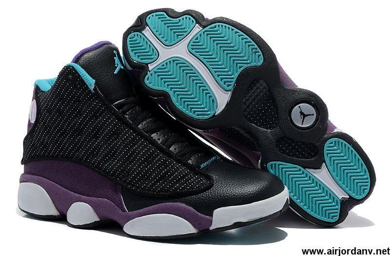 quality design 0df1e b3194 Low Price Air Jordan 13 (XIII) Inside with fluff Black Purple Basketball  Shoes Shop