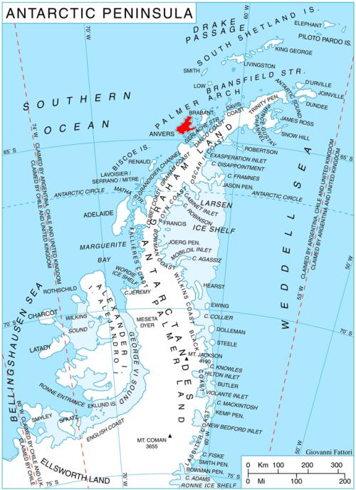 The Antarctic Peninsula | Antarctic circle, Antarctica, Map