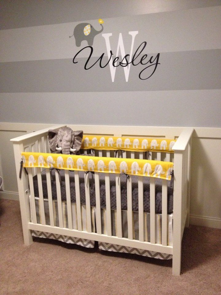 Wesley S Yellow And Gray Elephant Nursery Project Nursery