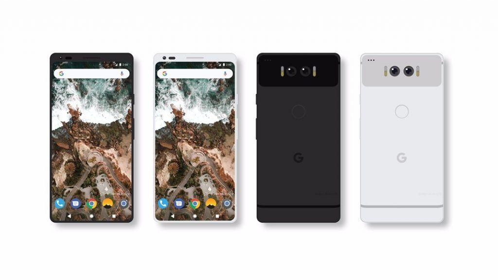 Foto Mockup dari Google Pixel 2 Beredar dengan Desain Layar Full Screen