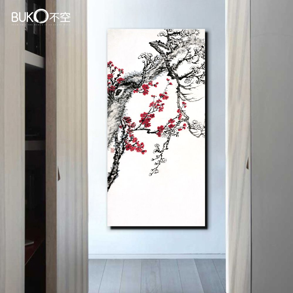 Hand Painted Canvas Painted Night Sky Lake Landscape Oriental Paintings Wall  Art For Home Decoration