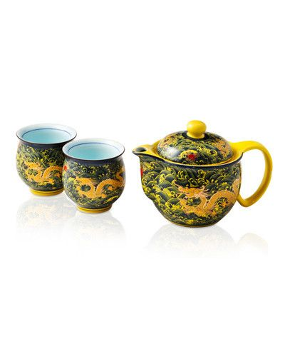 Dragon Kings Gold Tea Set