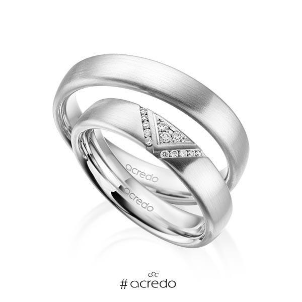 alianzas de boda en platino con diamantes. opciones en oro, oro