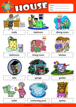 Parts of a House Picture Dictionary ESL Vocabulary ...