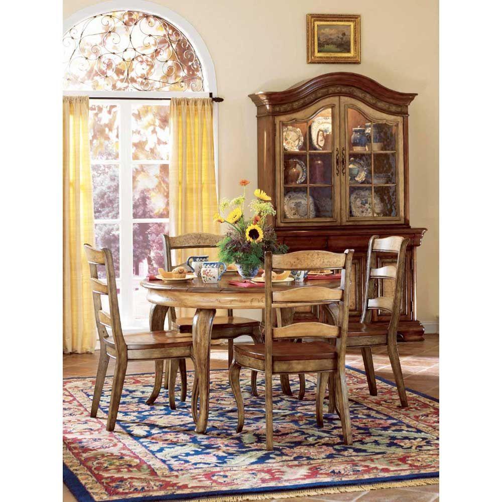 Paul schatz furniture portland or  Hooker Vineyard Round Dining Table HO