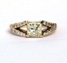 2ct Princess Cut Hand Crafted Ring 18YG   #DiamondsExclusive