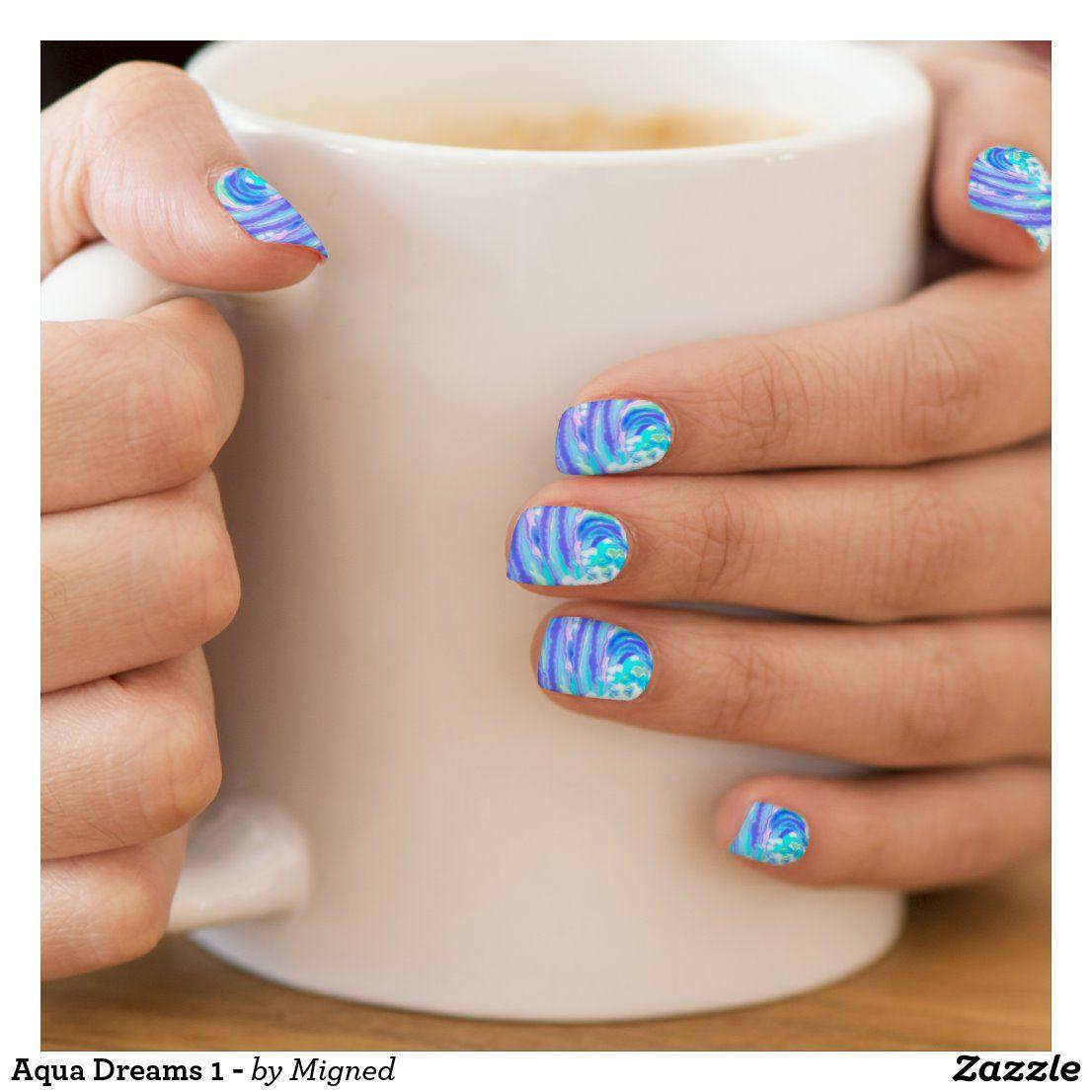 Aqua Dreams 1 - Minx Nail Art | Zazzle.com