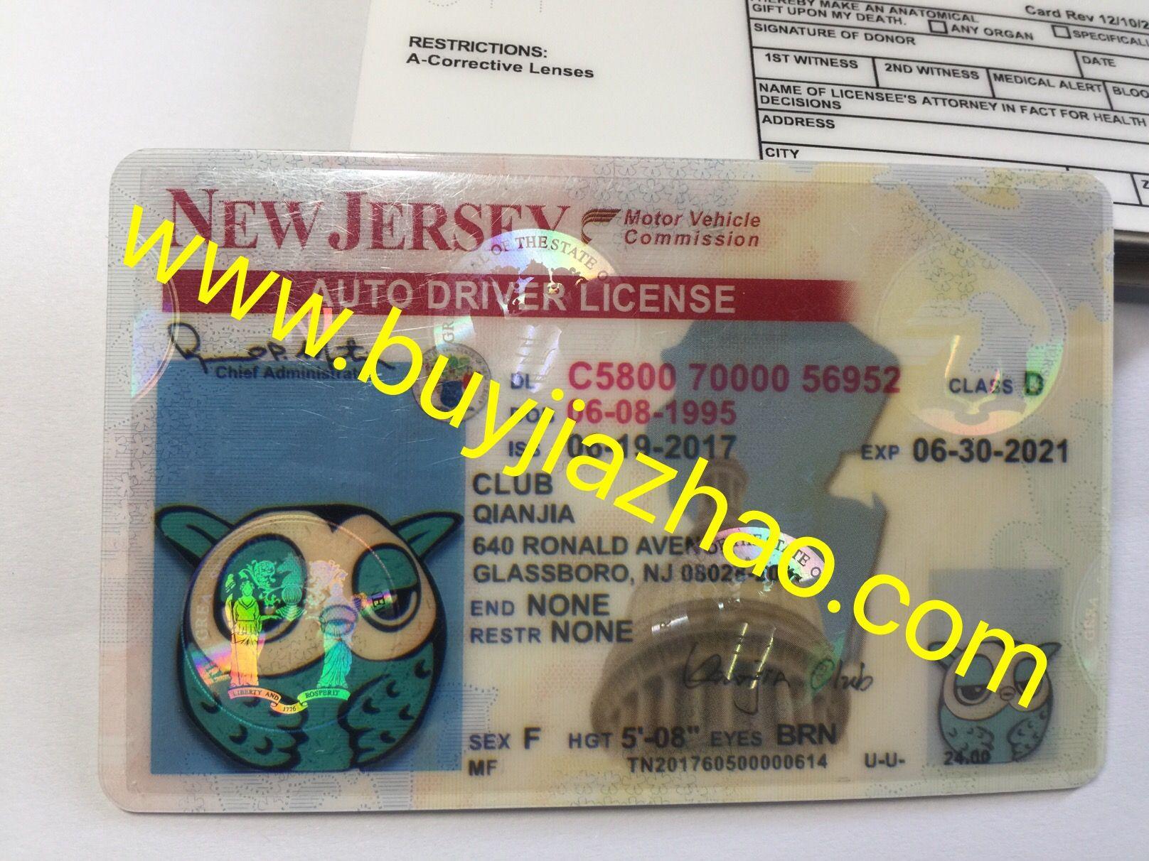 Get Ur Nj Fake Driver License Online Scannable New Jersey Fake