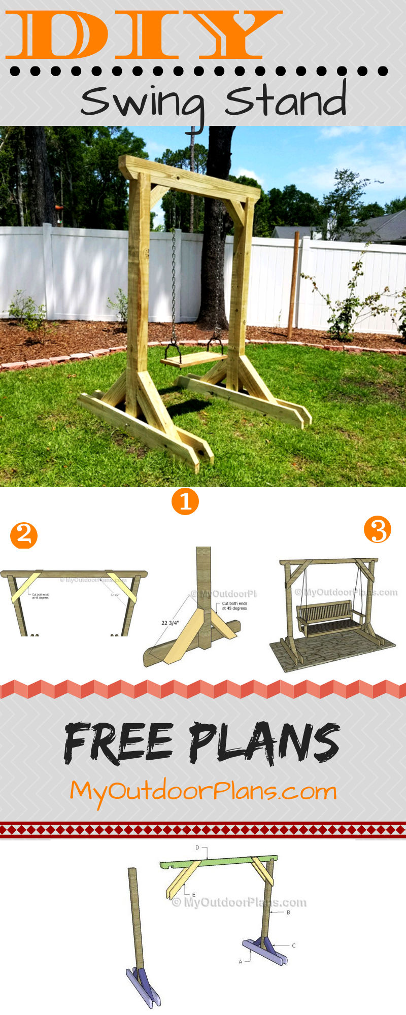 Porch Swing Stand Plans Diy Porch Swing Frame Diy Porch Swing