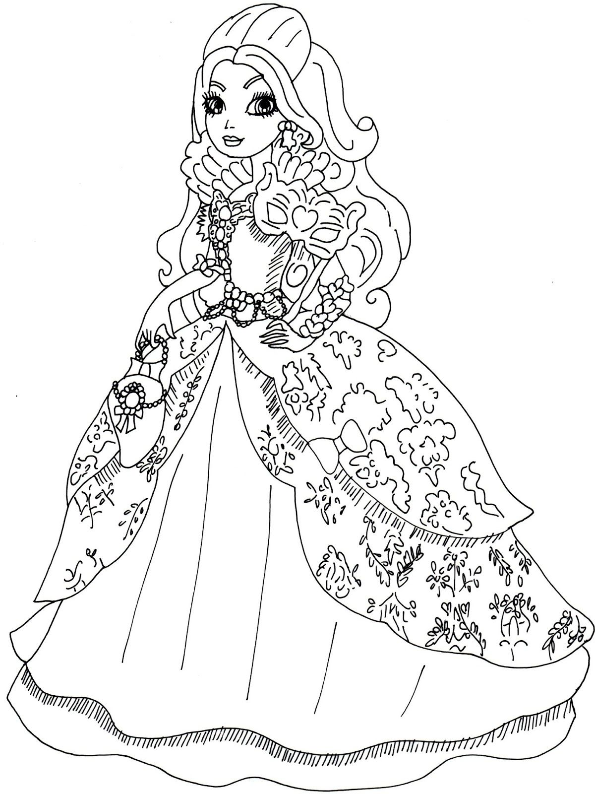 Ever after high coloring pictures - Explore Ever After High And More Throne Coming Apple White Coloring Page Jpg 1200