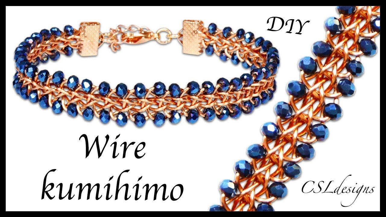 In This Tutorial I Show You How To Make A Half Round Kumihimo