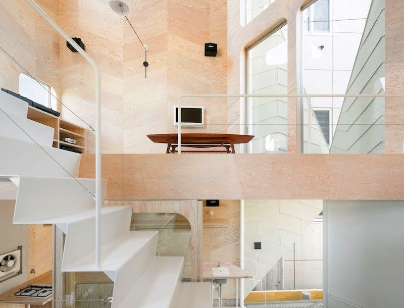 Designed By Tokyo Architecture Firm Flathouse, The Seven Level Tsubomi  House Is A Tiny