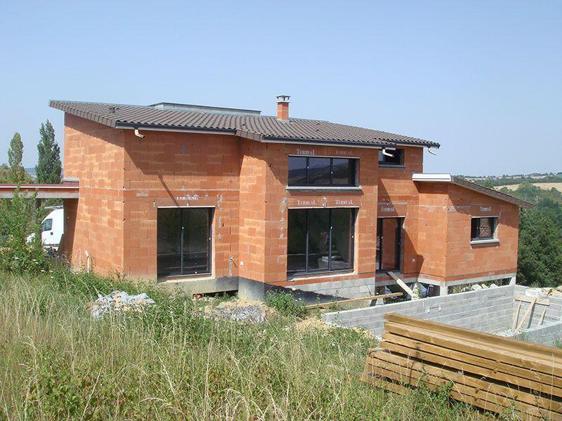 maison toit 1 pente terrasse couverte - Recherche Google Maisons - plan de maison sur terrain en pente