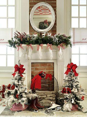 Christmas Decorating Decor For A Country Home Christmas Mantel