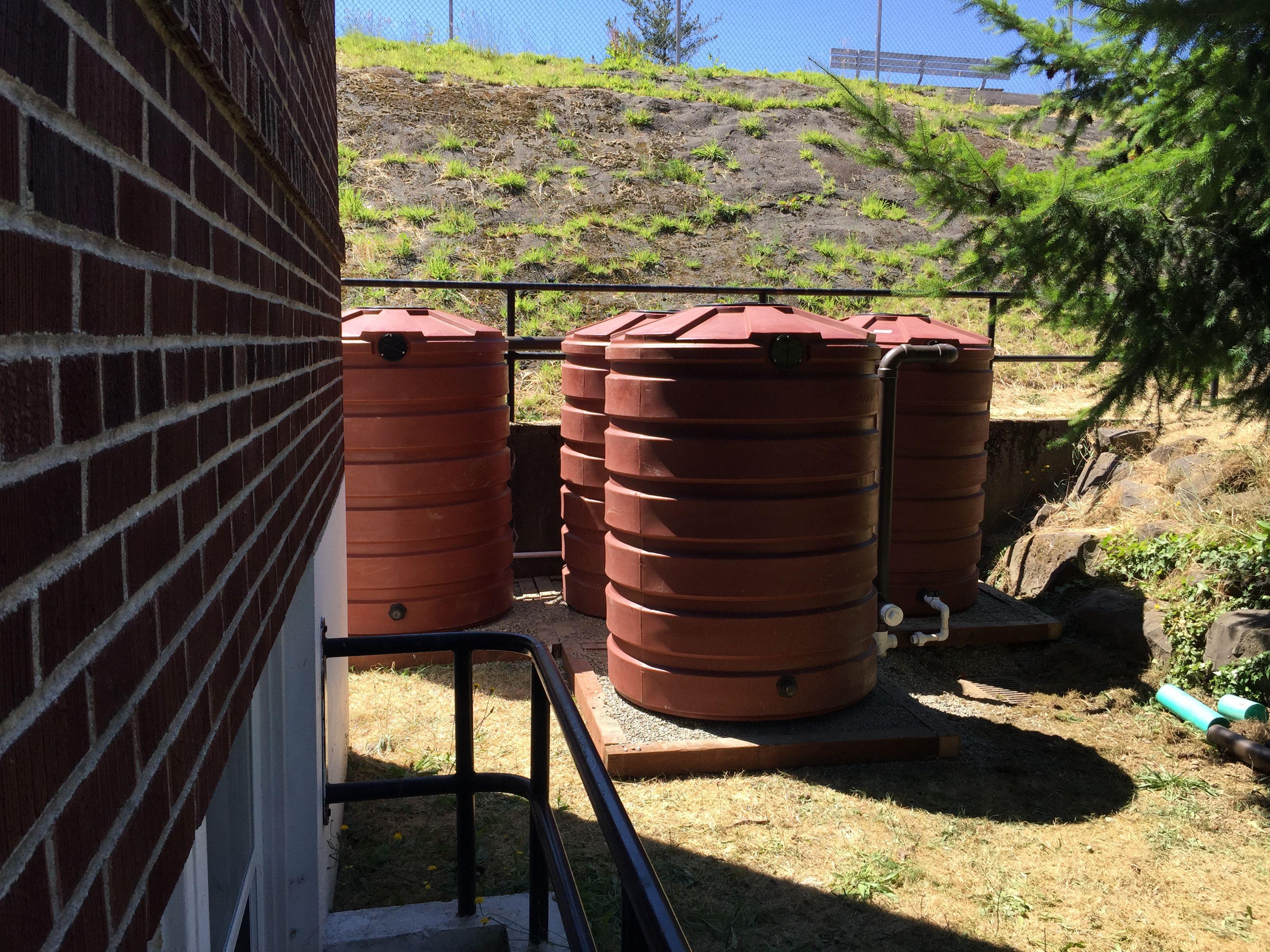 420 Gallon Rain Tanks At This West Seattle Church