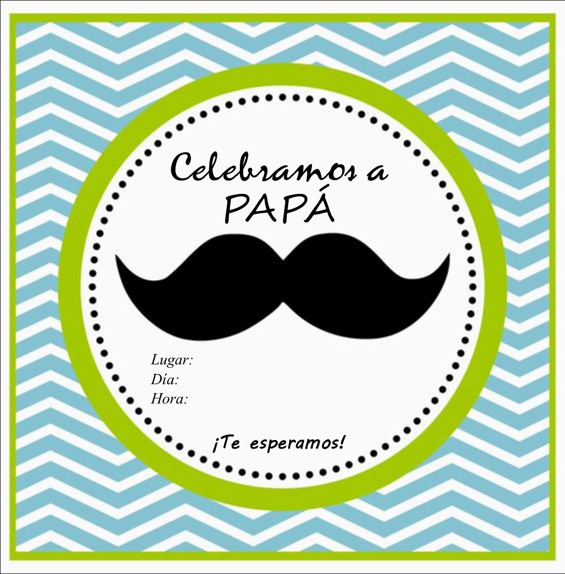 Invitación Por El Día Del Padre Para Imprimir Invitacion