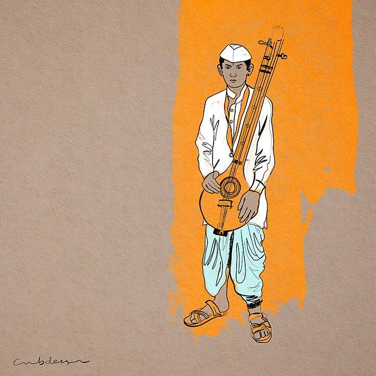 wari 2016 varkari boy pandharpur sketch