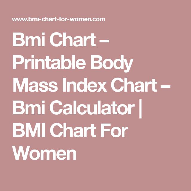 printable bmi chart for women