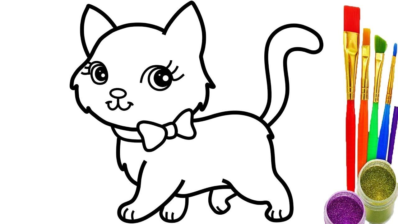 youtube coloring pages How to Draw Cat Coloring Pages Youtube Videos for Kids   YouTube  youtube coloring pages