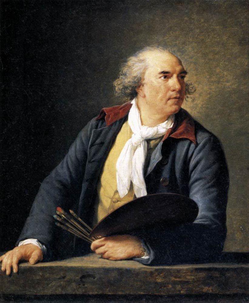 Elisabeth Louise Vigee-Le Brun (Elisabeth Louise Vigee Le Brun) (1755-1842) Hubert Robert, Artist Oil on wood 1788 84 x 105 cm (33.07 x 3 5.34)