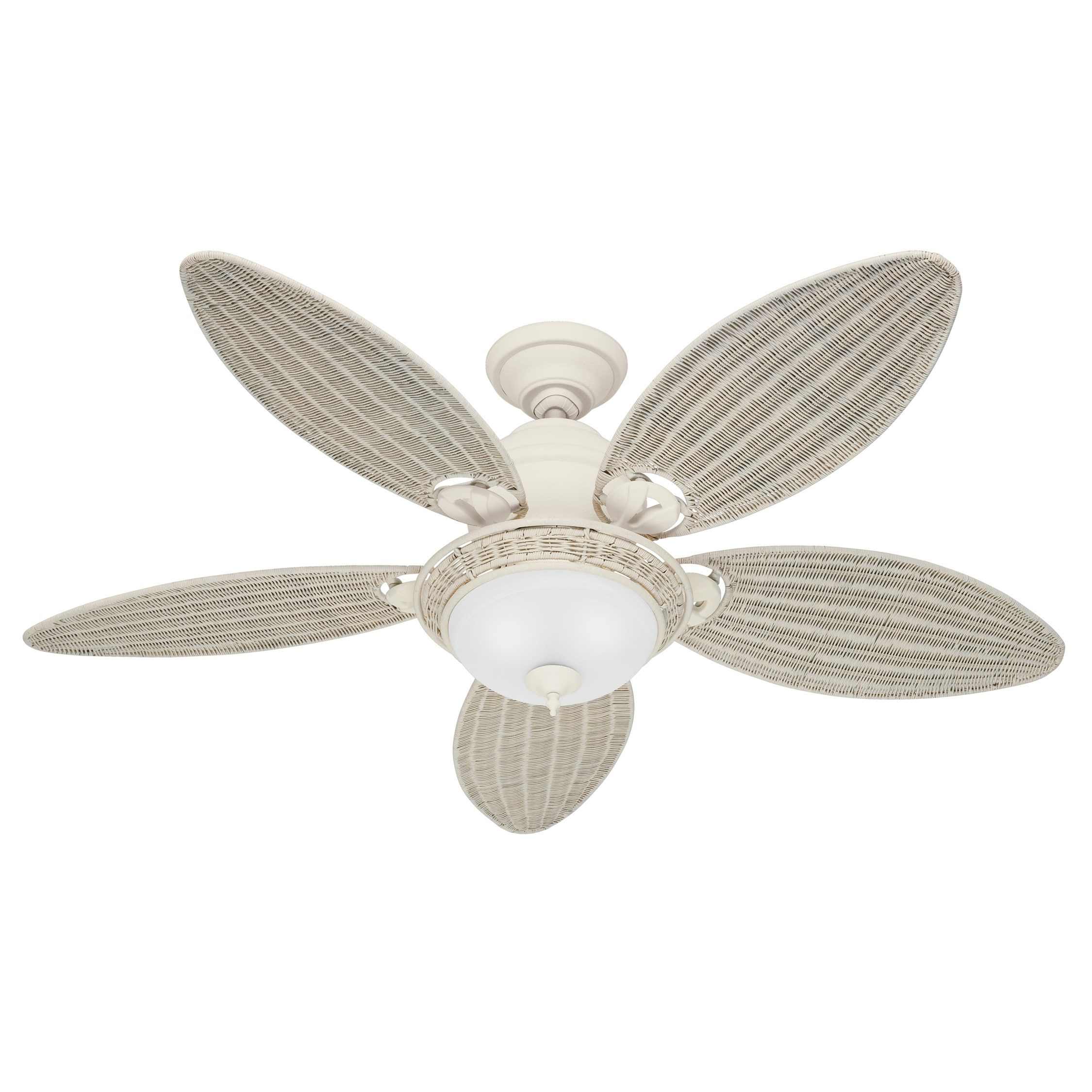 "Hunter Fans 54"" Caribbean Breeze 5 Blade Ceiling Fan & Reviews"