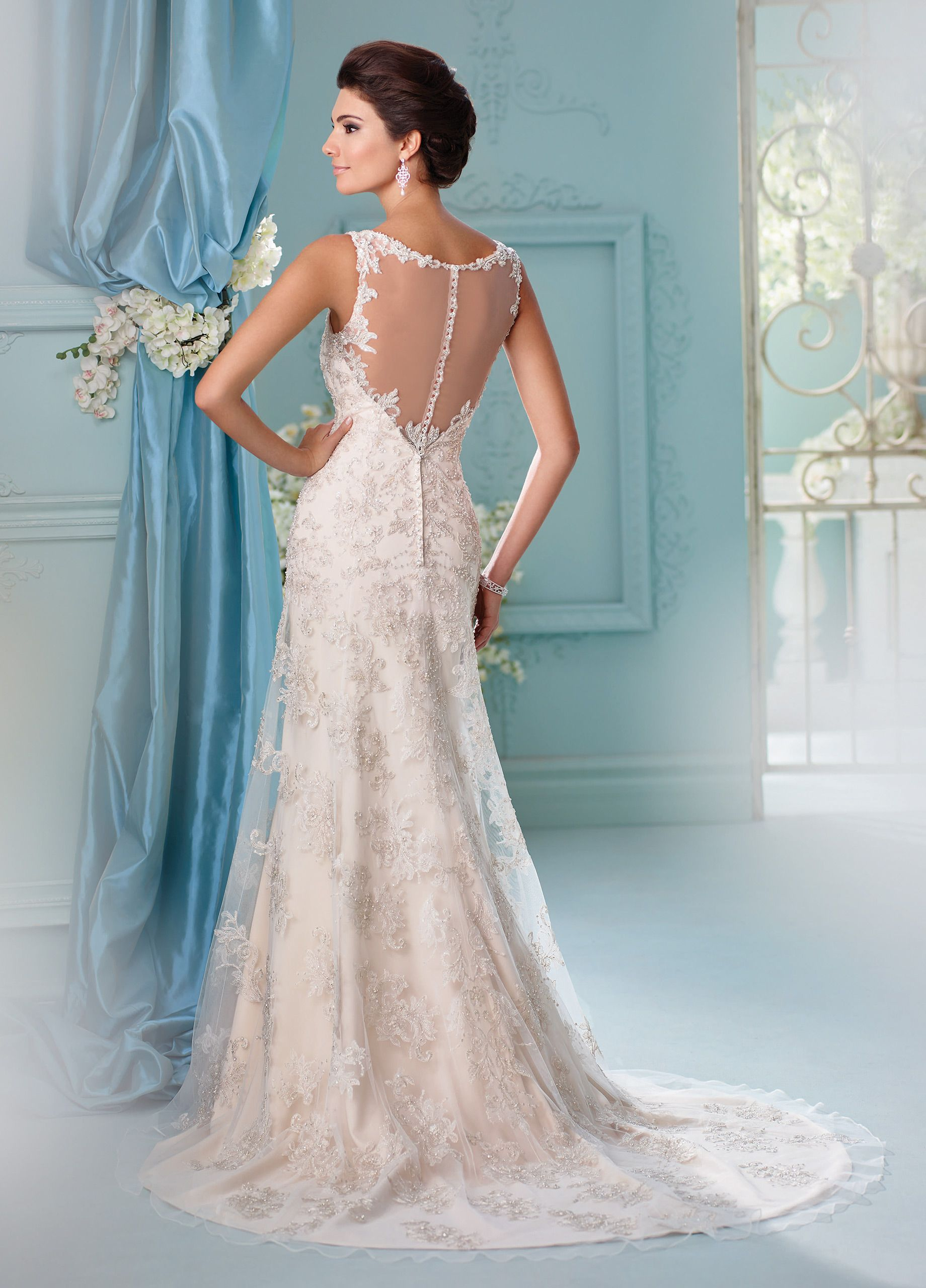 Outstanding Lazaro Blush Wedding Dress Sketch - All Wedding Dresses ...