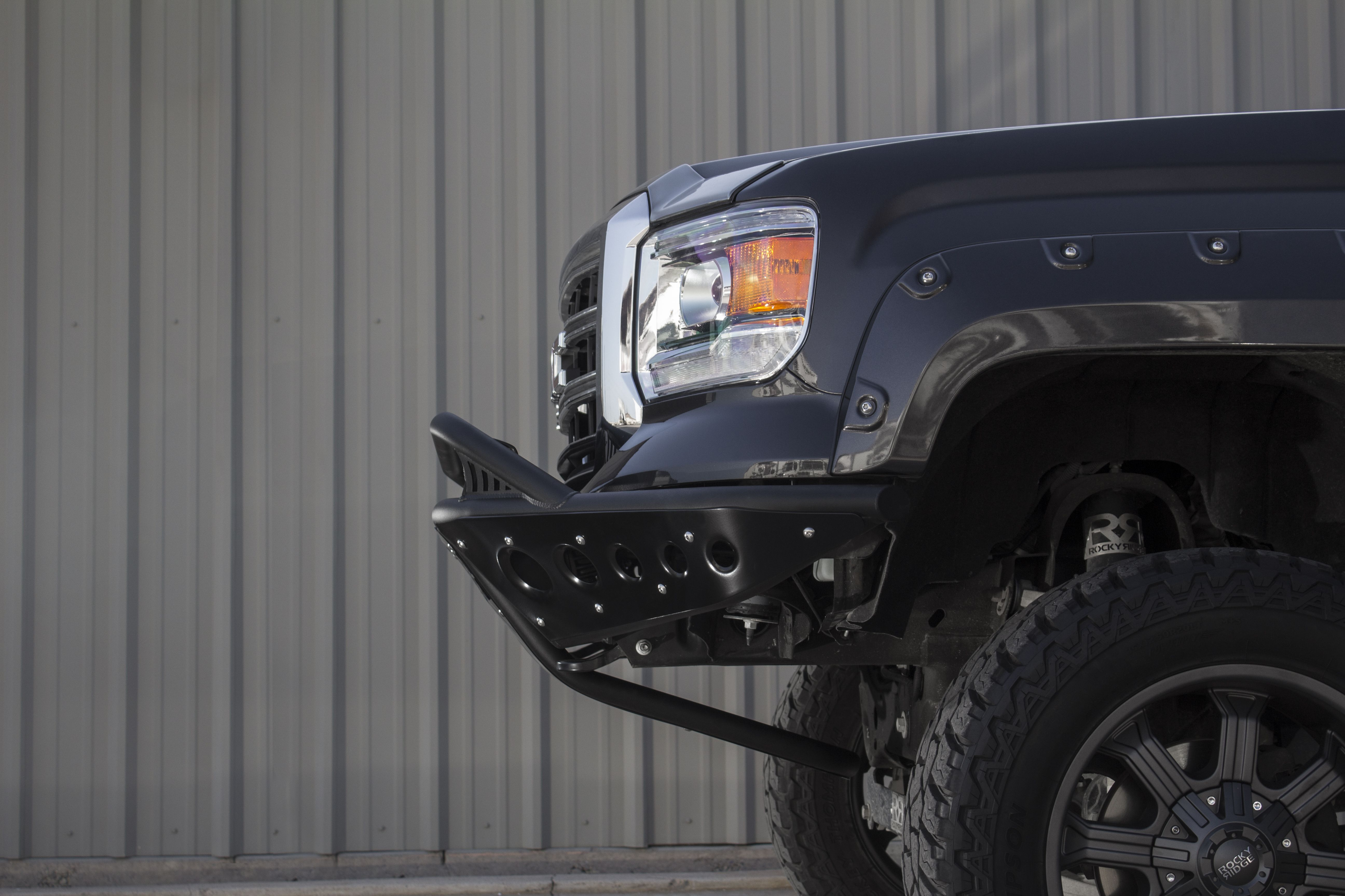 2014 Gmc 1500 Stealth Front Bumper Installed For This Happy