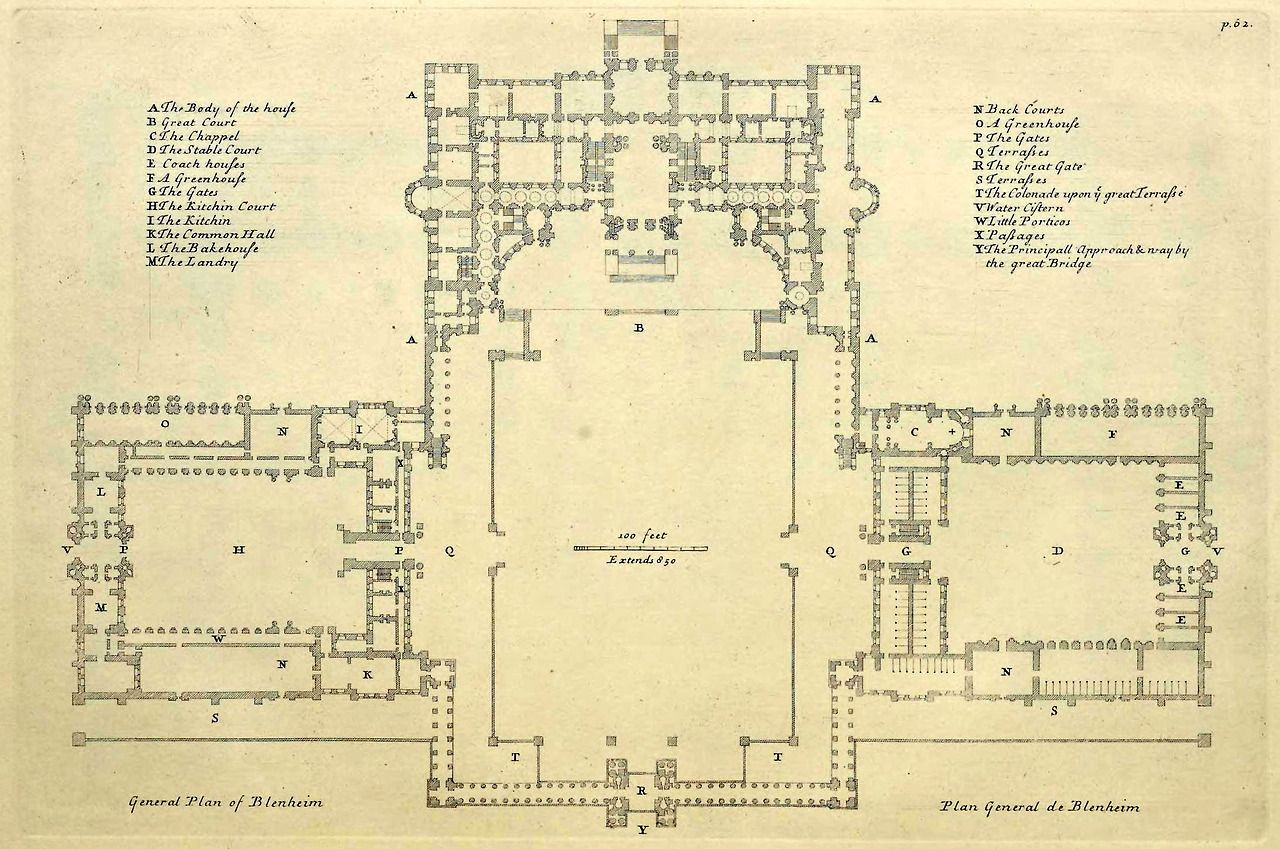 General floor plan of blenheim palace england blenheim for Palace plan