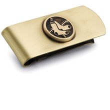 Jewels By Lux Silver Finished Brass Money Clip