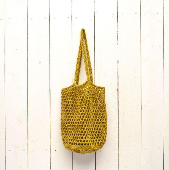 Bolsa mercado bolsa bolso de compras tejido por theGoodShnit | Bag ...