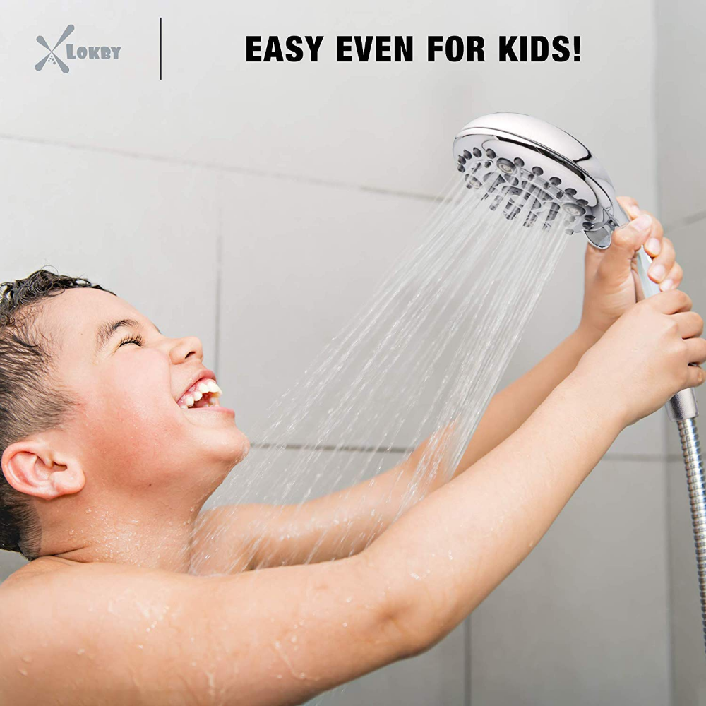 High Pressure Handheld Shower Head 6 Setting Luxury 5 Handheld