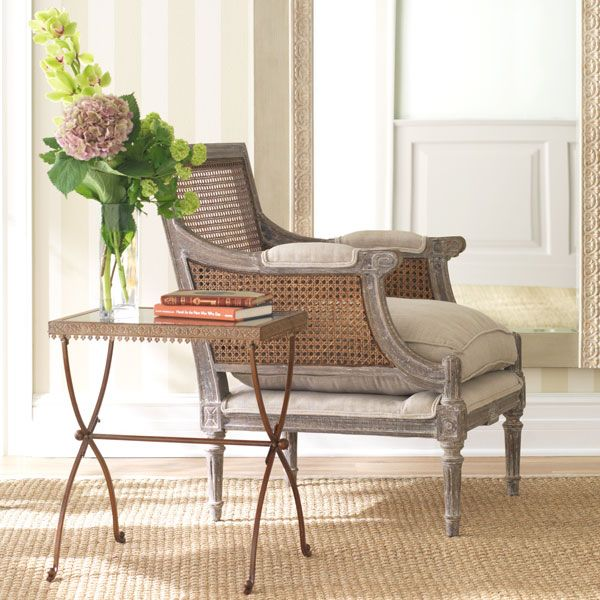 linen and cane-back chair | dining chairs, inspiration and glass table