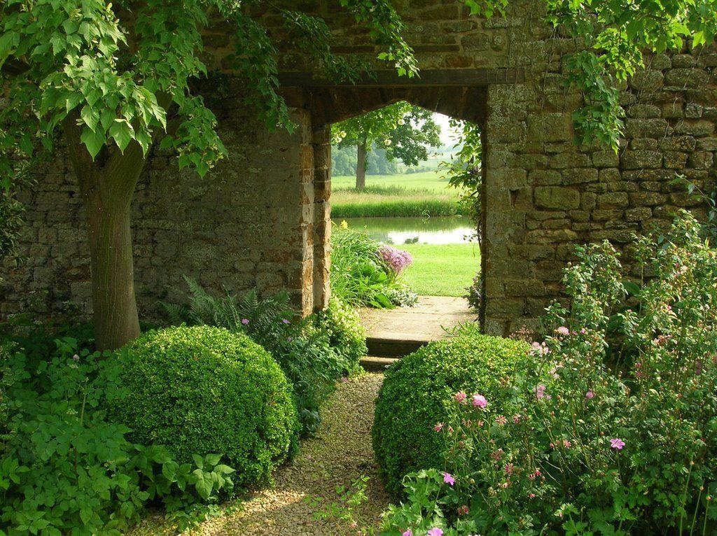 Doorway Broughton Castle Gardens North Oxfordshire Castle Garden Traditional Garden Garden Features