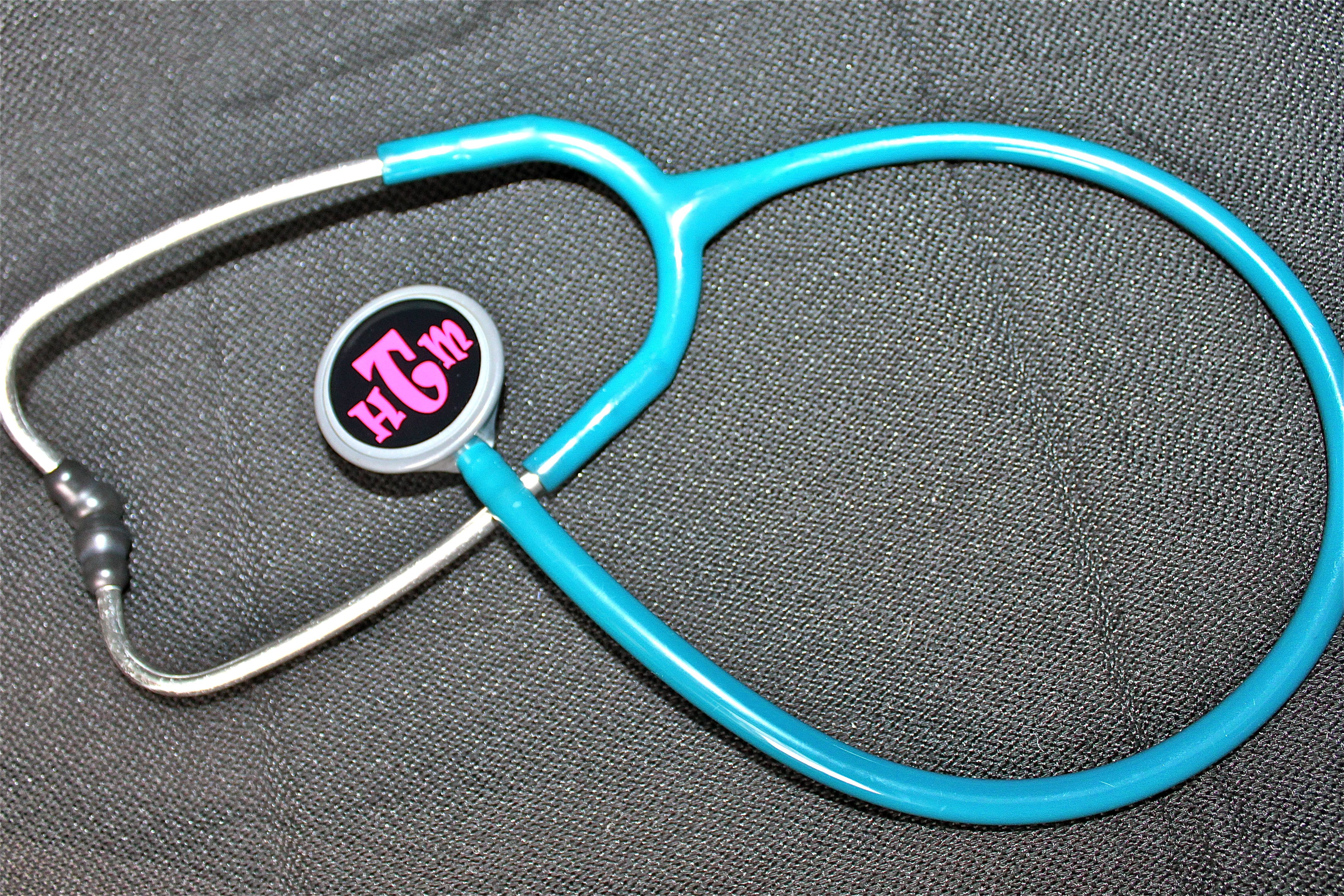 Decal-zzle up your stethescope.  Cool custom cut vinyl covers for your diaphragm.  See us on facebook or etsy at iDesign Decals.