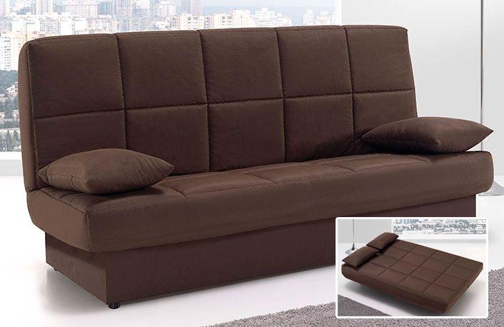cb44e1365b8e6 Sofá cama clic clac moderno con arcón