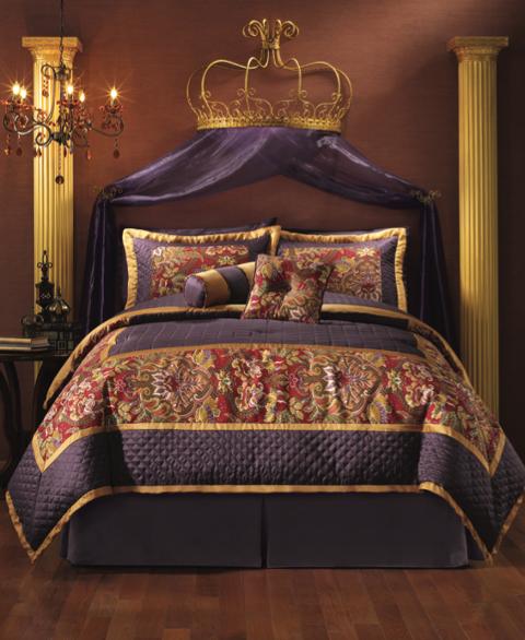 Nanuet Comforter Set from Midnight Velvet. Plum bedding