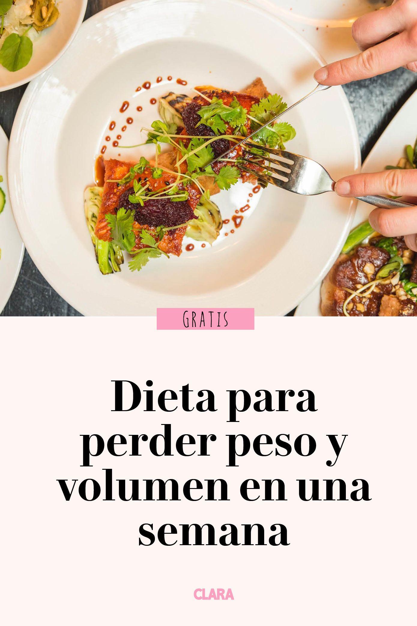 dieta para adelgazar volumen