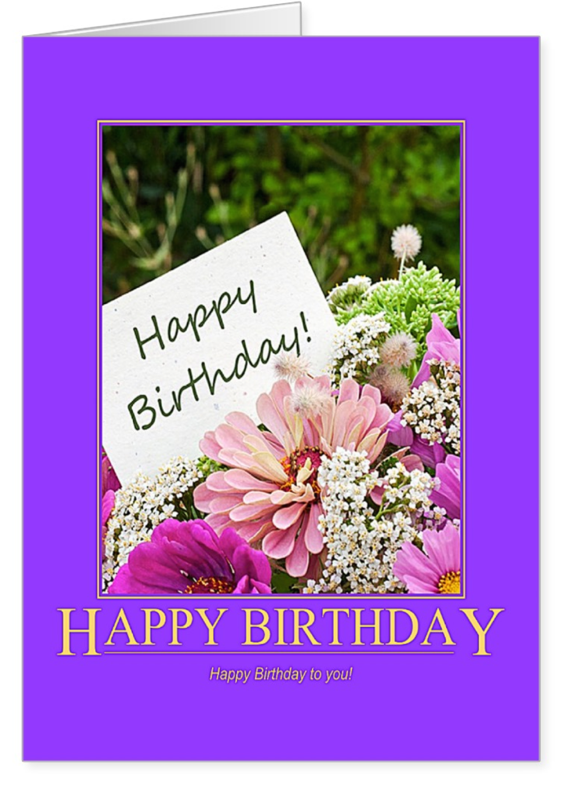 Happy birthday card with beautiful flowers birthday gift cards complement the words to convey your loving feelings birthday gift cards greeting cards izmirmasajfo