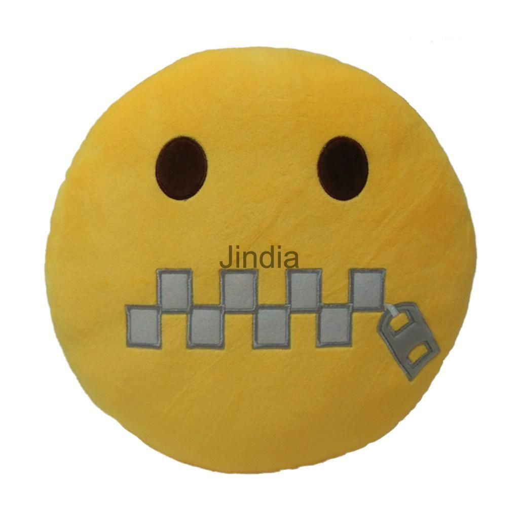 Emoji shut up emoticon cushion pillow stuffed plush soft toy home