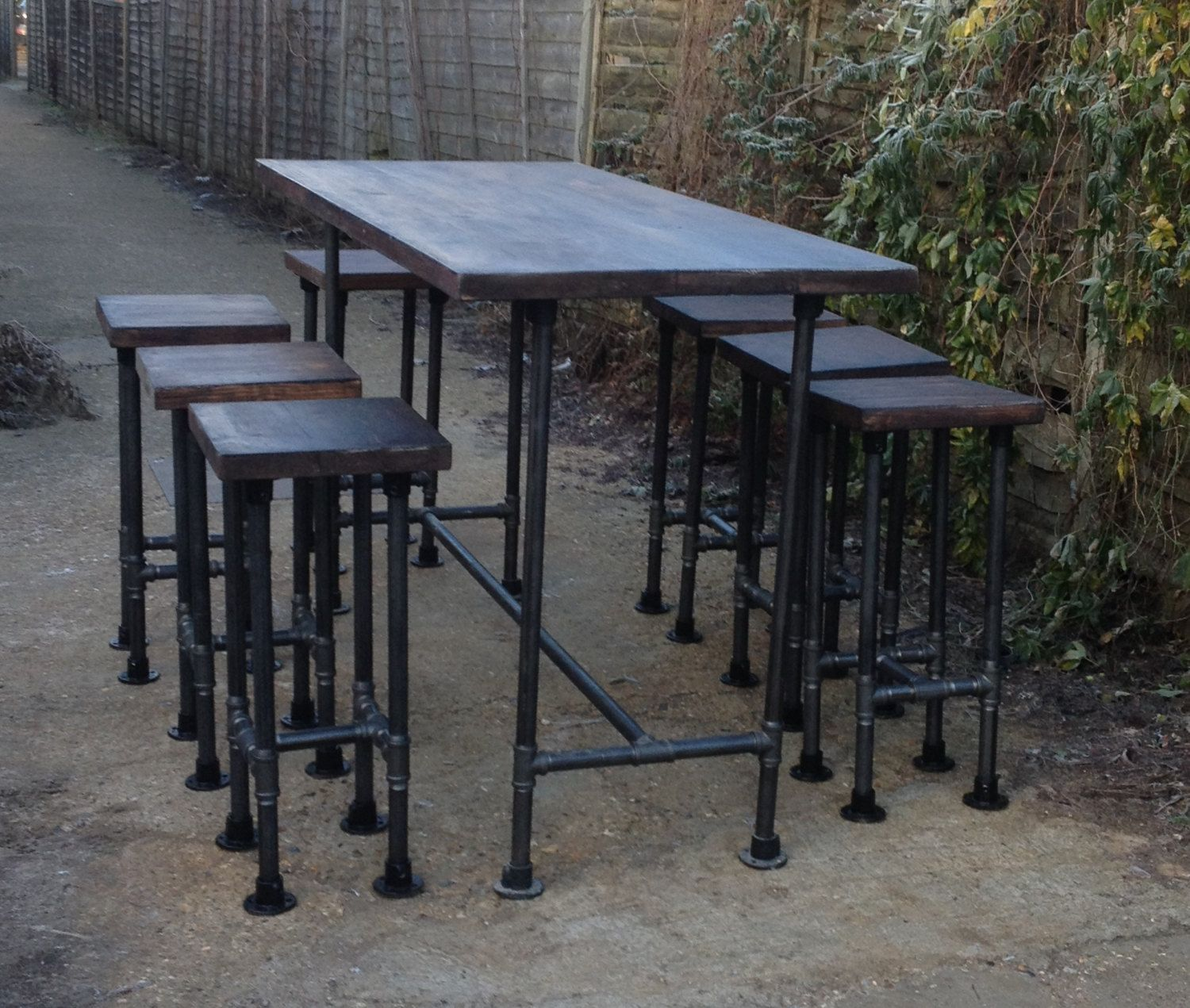 High Gas Pipe Bar Table This Impressive Industrial Style Table Is Produced  Using 33.7mm Mild