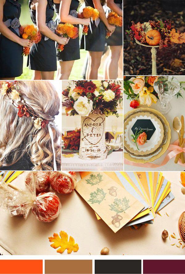 Vintage Fall Weddings Top 3 Hot Wedding Color Inspiration