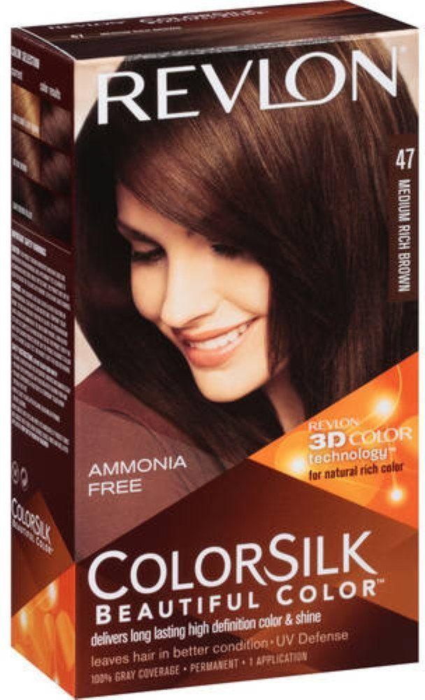 Revlon Colorsilk Hair Color 47 Medium Rich Brown 1 Ea Pack Of 12