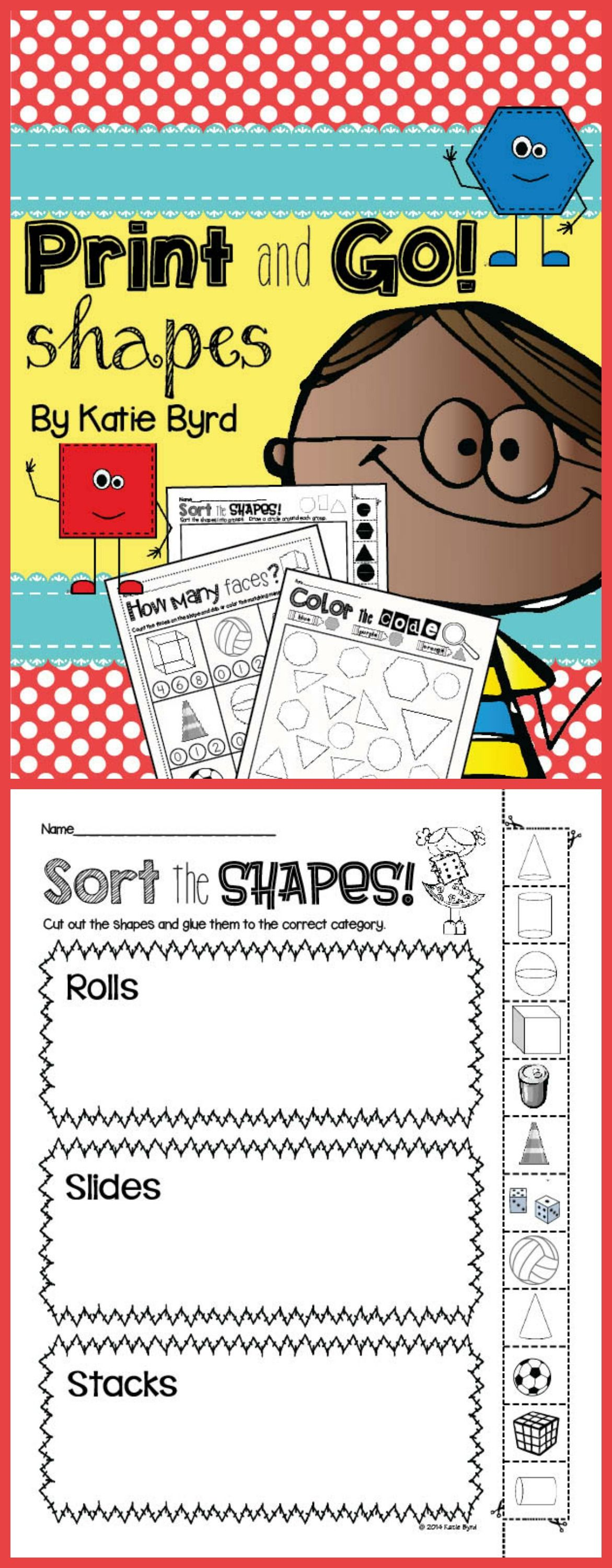 Print And Go Shapes And Geometry No Prep Distance