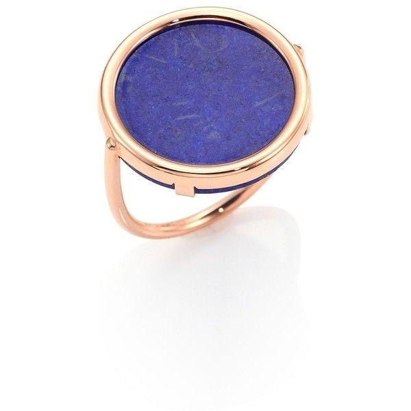 Ginette NY Ever Lapis 18-karat rose gold Disc ring 5UrQs1fQ2