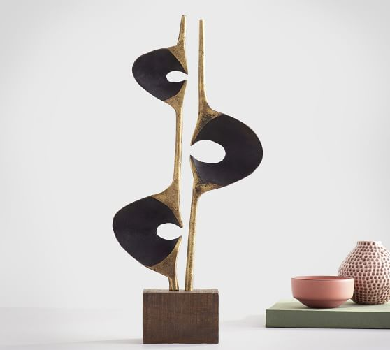 Rough Cast Brass Decorative Object