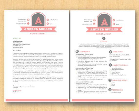 green vintage initial logo diy microsoft word resume by inkpower