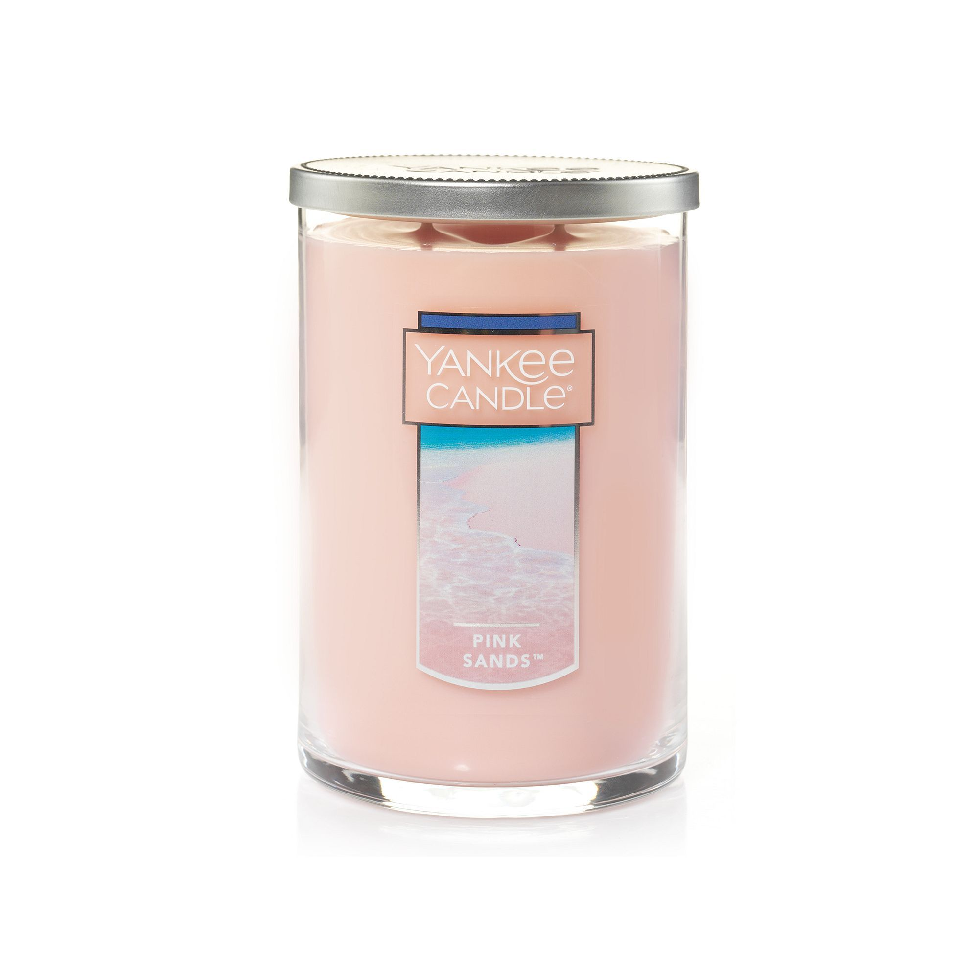 Yankee candle pink sands tall oz candle jar pink sand candle