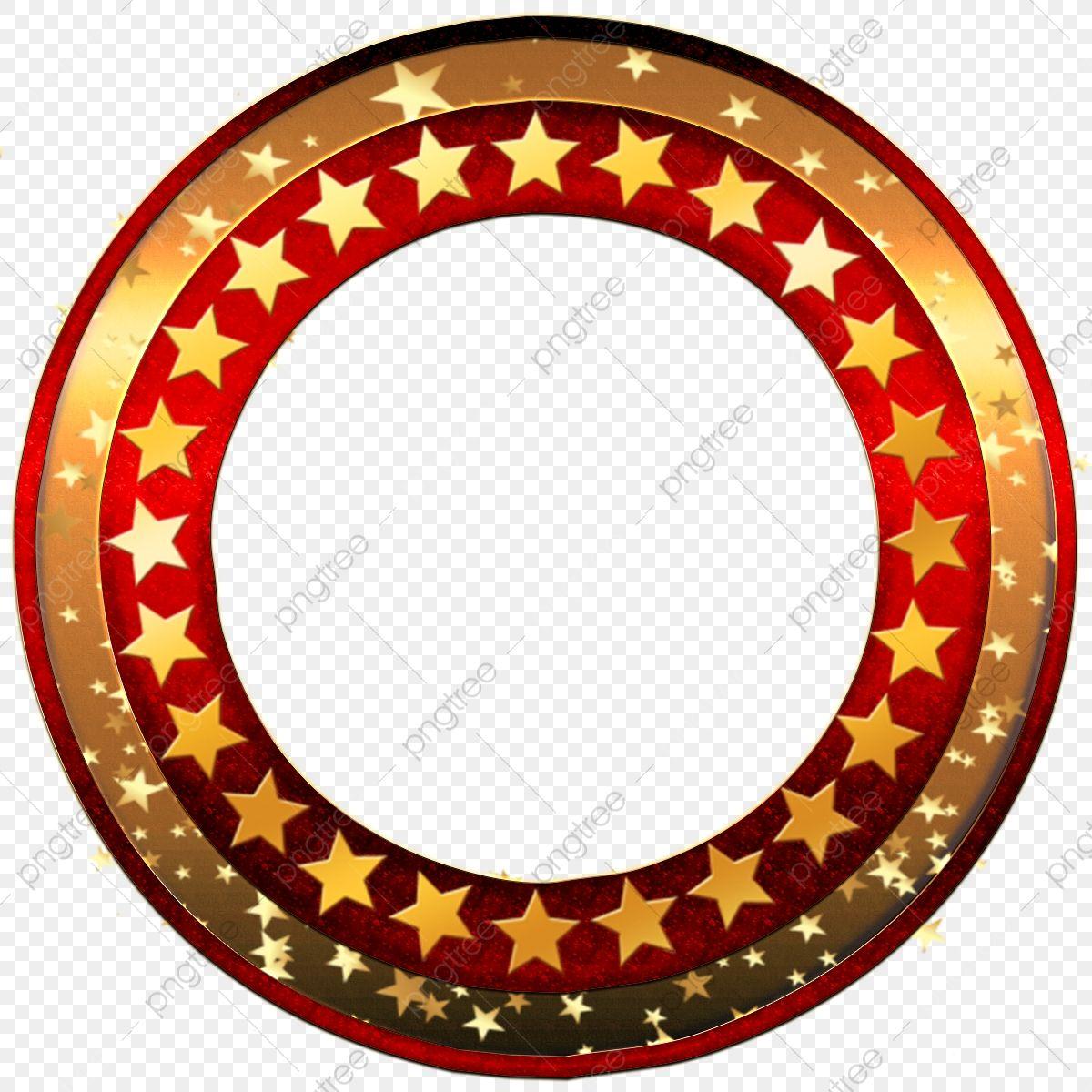 Red Round Frame With Golden Stars Frame Marrige Celebration Png Transparent Clipart Image And Psd File For Free Download Poster Background Design Ornament Frame Golden Star